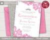 Picture of Quinceanera Birthday Invitation in Pink and Silver
