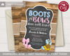 Picture of Boots or Bows Gender Reveal Invitation