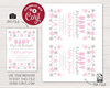 Picture of Winter Baby Shower Invitation in Baby Pink and Silver