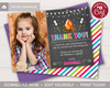Picture of Bonfire Birthday Thank You Card with Photo