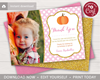 Picture of Pumpkin Birthday Thank You Card with Photo