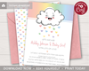 Picture of Raining Love Baby Shower Invitation