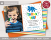 Picture of Dinosaur Birthday Thank You Card with Photo
