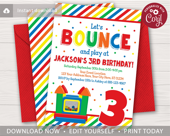 Picture of Bounce House Birthday Invitation