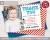 Picture of Circus Birthday Thank You Card with Photo