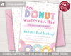 Picture of Donut Birthday Invitation