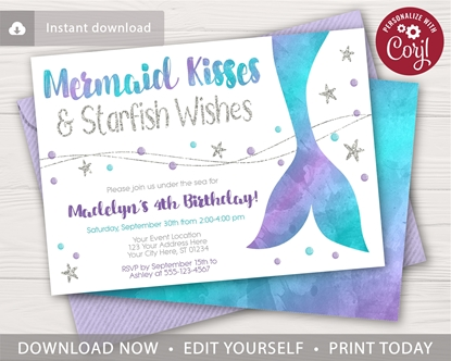 Picture of Mermaid Birthday Invitation