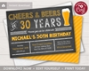 Picture of Cheers and Beers to 30 Years Birthday Invitation