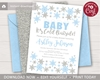 Picture of Winter Baby Shower Invitation in Baby Blue and Silver
