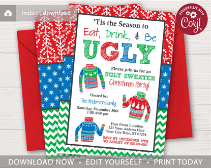 Picture of Ugly Christmas Sweater Invitation