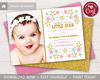 Picture of Twinkle Twinkle Little Star Birthday Invitation with Photo