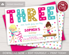 Picture of Gymnastics 3rd Birthday Invitation