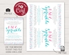 Picture of Confetti Baby Sprinkle Invitation in Pink and Aqua