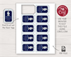 Picture of Mr. ONEderful Birthday Favor Tags | Navy and Silver
