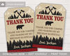 Picture of Lumberjack Birthday Favor Tags