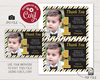 Picture of Mr. ONEderful Birthday Thank You Card with Photo | Black and Gold