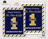 Picture of Mr. ONEderful Birthday Party Sign | Navy and Gold