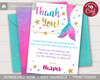 Picture of Mermaid Birthday Thank You Card