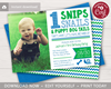 Picture of Snips Snails & Puppy Dog Tails 1st Birthday Invitation