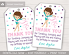 Picture of Gymnastics Birthday Favor Tags