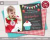 Picture of Strawberry Birthday Invitation with Photo