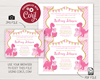 Picture of Dinosaur Baby Shower Invitation in Pink and Gold