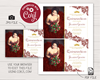 Picture of Quinceanera Birthday Invitation in Dark Red Lace and Gold Glitter with Photo