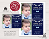 Picture of Mr. ONEderful Birthday Thank You Card with Photo   Navy and Silver