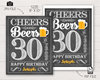 Picture of Cheers and Beers to 30 Years Birthday Party Sign