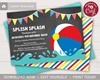 Picture of Beach Ball Birthday Invitation for a Pool Party