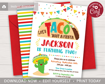 Picture of Let's Taco Bout a Fiesta Birthday Invitation