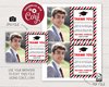Picture of Graduation Thank You Card with Photo in Red and Black