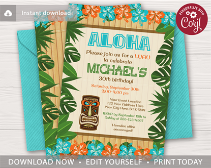 Picture of Luau Birthday Invitation