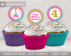 Picture of Mermaid Birthday Cupcake Toppers