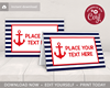 Picture of Nautical Birthday Place Cards