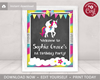Picture of Unicorn Birthday Party Sign