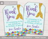 Picture of Mermaid Birthday Favor Tags