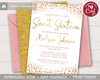 Picture of Sweet Sixteen Birthday Invitation in Pink and Gold