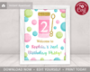 Picture of Bubble Birthday Party Sign