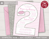 Picture of Tutu 2nd Birthday Invitation in Pink and Silver