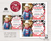 Picture of Cow Birthday Invitation in Red with Photo