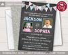 Picture of Sibling Birthday Invitations