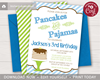 Picture of Pancakes and Pajamas Invitation | Blue