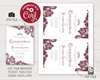 Picture of Quinceanera Birthday Invitation in Burgundy and Silver