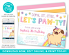 Picture of Pug Unicorn Birthday Invitation