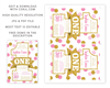 Picture of Pink and Gold First Birthday Invitation