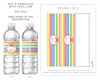Picture of Rainbow Water Bottle Labels