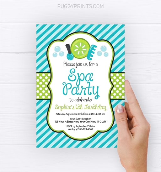 Picture of Spa Party Birthday Invitation