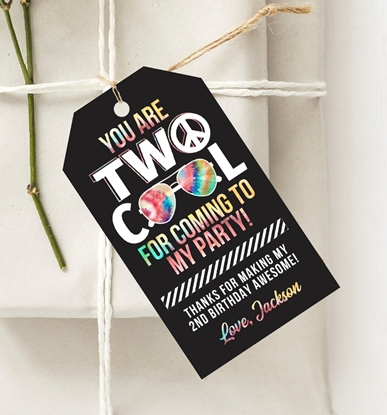 Picture of Two Cool Birthday Favor Tags