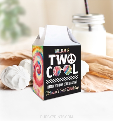 Picture of Two Cool Birthday Party Favor Box
